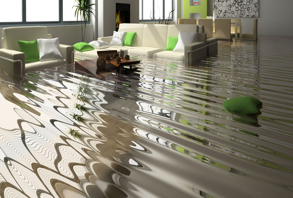 A home in need of water damage restoration in Canberra