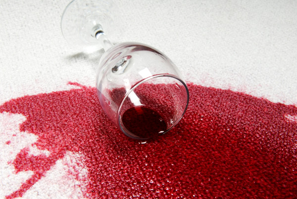 Image of spilt Red Wine on Carpet