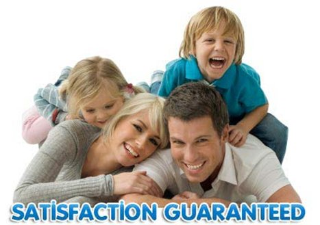 Image of happy family with clean carpets in Canberra